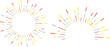 手描き 3色ライン集中線