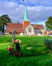 The Parish Church Of Saint Mary And Saint Gabriel, South Harting In West Sussex Within The South Downs National Park, UK