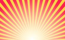 Abstract Orange Color Sunburst Background. Vector Illustration