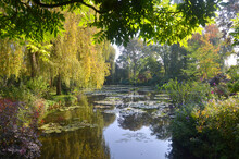 Claude Monet's Garden And Pond In Giverny France