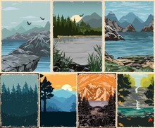 Beautiful Nature Landscapes Colorful Posters
