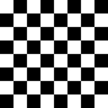 Classic Chessboard. Black And White Basis Background