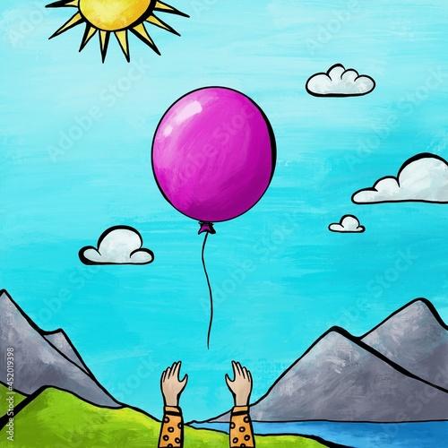 Łapiąc balonik