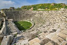 Roman Amphitheater In The Ruins Of Aphrodisias In Turkey