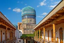 Historical Bibi Khanum Mosque In Samarkand, Uzbekistan.