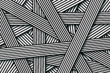 Abstract Background With Black And White Striped Lines