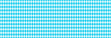 Texture With Blue And White Rhombus. Seamless Banner For Bayern Fabric. Vector Oktoberfest Bavarian Pattern.
