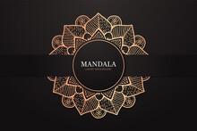 Luxury Mandala Background For Decoration Invitation, Cards, Wedding, Logos, Cover, Brochure, Flyer, Banner. Arabic Islamic East Style Mandala Design