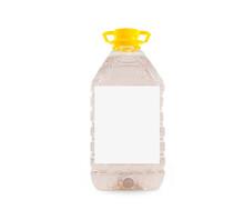 Botella De Plastico Grande Liquido Transparente Tapa Amarilla Packaging