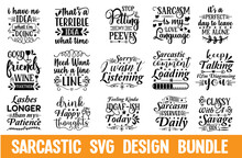 Sarcastic SVG Design Bundle Cut Files For Cutting Machines Like Cricut And Silhouette