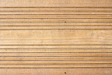 Used Treated Pine Wood Timber Decking Plank Boards Background, Stock Photo Image