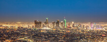 Scenic View To Los Angeles By Night