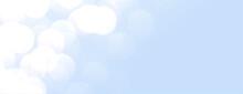 Elegant Sky Blue Banner With Bokeh Lights
