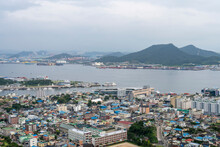 한국 목포바다 풍경