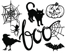 Spooky Hand Drawn Vector Graphic Set