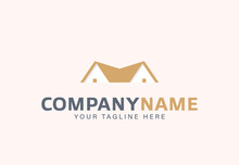 Simple House Roof Icon. Logo For Real Estate Agent
