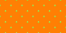 Orange Luxury Background With Beads And Rhombuses. Vector Illustration.