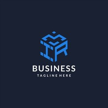 IR Logo Hexagon Designs, Best Monogram Initial Logo With Hexagonal Shape Design Ideas