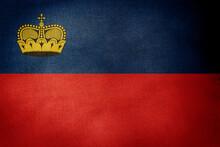 Central Part Flag Of Liechtenstein