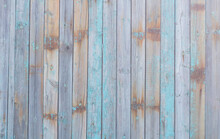 Old Shabby Blue Gray Painted Wooden Wall Background Texture.