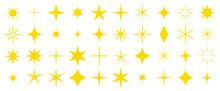 キラキラ 星 セット 黄色
