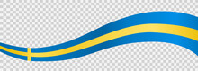 Waving Flag Of Sweden Isolated  On Png Or Transparent  Background,Symbol Of Sweden,template For Banner,card,advertising ,promote, Vector Illustration Top Gold Medal Sport Winner Country