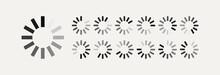 Loading Vector Symbol For Motion Design, Animation Isolated On White Background. Load Symbol, Download Sign, Progress Loading Website. 10 Eps