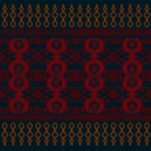 Applied Fabric Pattern With Dark Color And Red And Orange Pattern