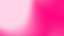 Dot Pink Pattern Gradient Texture Background. Abstract Illustration Pop Art Halftone And Retro Style. Creative Design Valentine Concept,