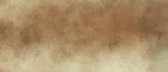 Brown background with grunge texture, watercolor painted mottled brown background with vintage marbled textured design on cloudy sepia brown banner, distressed old antique parchment paper