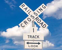 Railroad Crossing Sign - NASHVILLE, TENNESSEE - JUNE 15, 2019