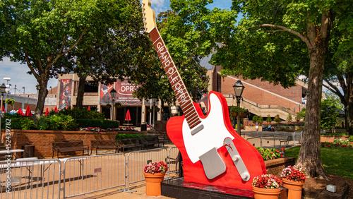 Huge guitars at Grand Ole Opry - NASHVILLE, TENNESSEE - JUNE 15, 2019