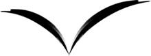 Bird In Fly. Vector Logo Illustration. Brush Strokes .