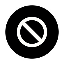 Forbiden Vector Glyph Inverted Icon Design