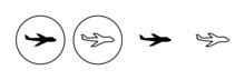 Plane Icon Set. Airplane Icon Vector. Flight Transport Symbol. Travel Illustration. Holiday Symbol
