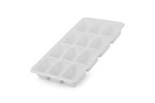 White Plastic Ice Cube Tray Isolated On White