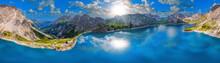 Alps Skypano Above The Luenersee In Austria