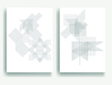 Abstract Hipster Lines Background . Vector Line Design . Poster Template . Minimal Art .