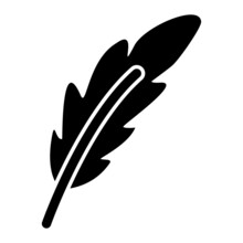 Vector Feather Glyph Icon Design