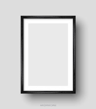 Wall Picture Black Frame. Vector Illustration