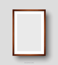Wall Picture Brown Frame. Vector Illustration