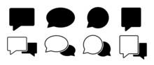 Chat Set Icon Vector Illustration