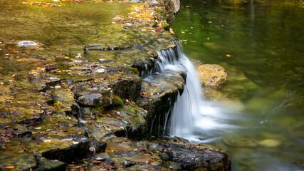 Scenic Au Train water falls in Michigan upper peninsula