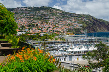 Beautiful View Of The Town On The Hill. Funchal, Madeira.