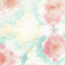 Pink Spiral Tie Dye. Dyed Hippie Fabric. Denim