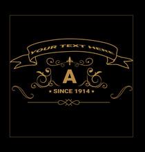 Logo Creative Royal Gold Monogram Template