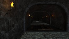 Fantasy Medieval Dungeon Architecture Construction 3d Illustration