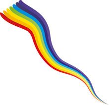 Aufsteigender Regenbogen - Kreativität Entfaltet Sich Und Gibt Dir Kraft Und Stärke - Mut Haben