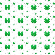 Pattern Of Many Green Bows Of Different Sizes