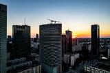 Fototapeta Fototapeta Londyn - wieżowce w centrum miasta, budowa i dżwigi, Warszawa, Polska